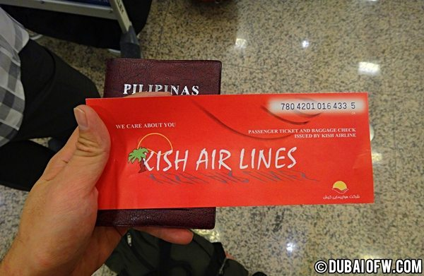 kish airlines ticket