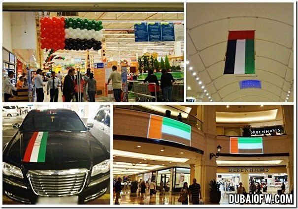 UAE national day flags