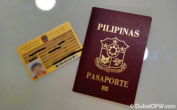labor card and passport