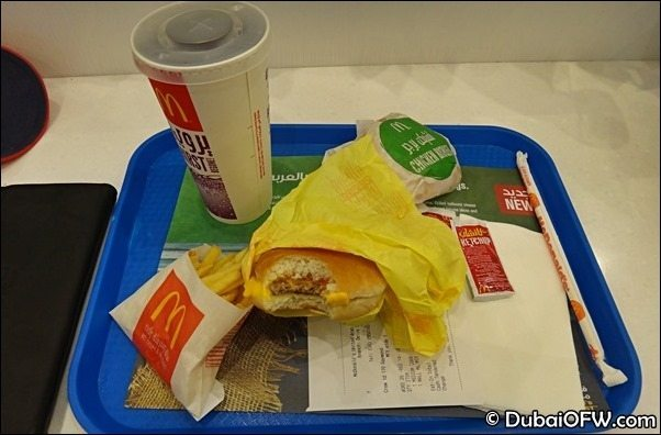 mcdonalds staff meal dubai
