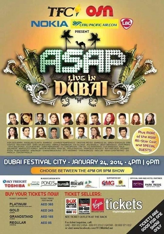 ABS-CBN ASAP Live in Dubai – JAN 24, 2014