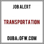 Transportation jobs in dubai