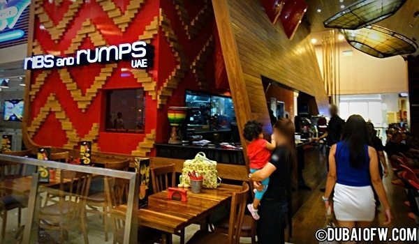 dubai mall ribs and rumps restaurant