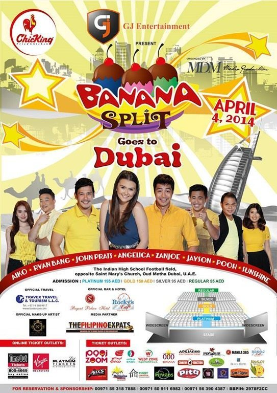 Banana Split Goes to Dubai Show April 2014