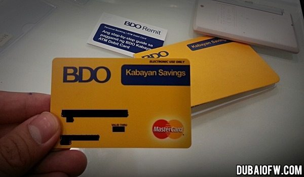 BDO Kabayan Account OFW