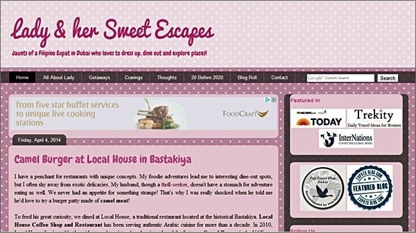 lady and her sweet escapes blog