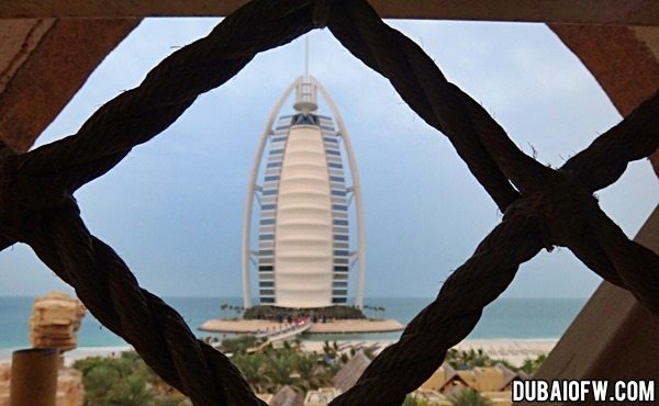 burj al arab view from wild wadi resort
