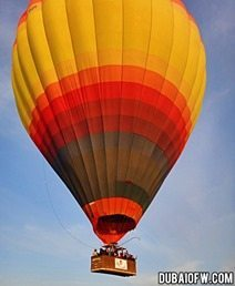 hot air ballon dubai