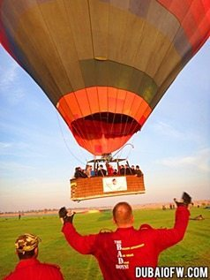 hot air balloon adventure dubai