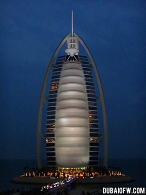night shot burj al arab