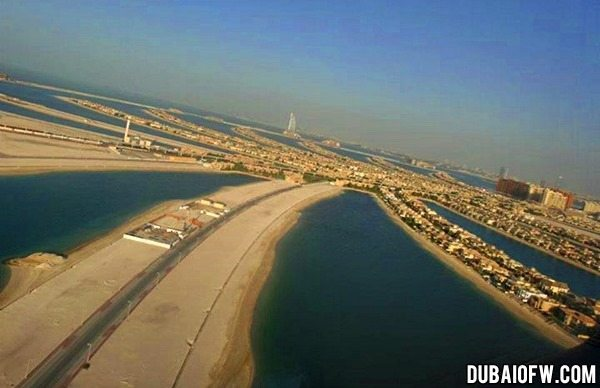 palm jumeirah aerial view