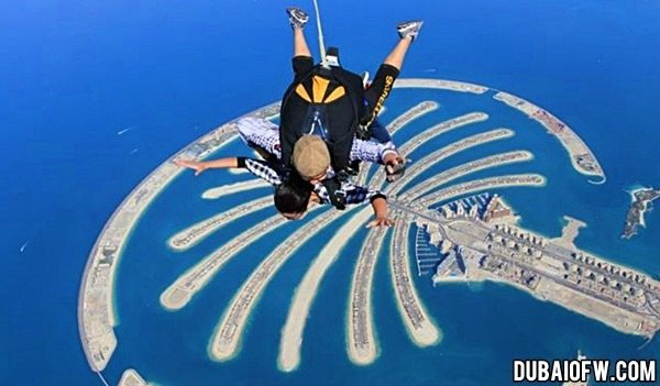 skydiving the palm islands dubai