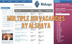 alshaya jobs uae 2014