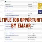 Emaar Multiple Job Opportunities UAE 2014