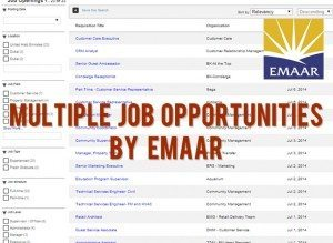 emaar job opportunities 2014