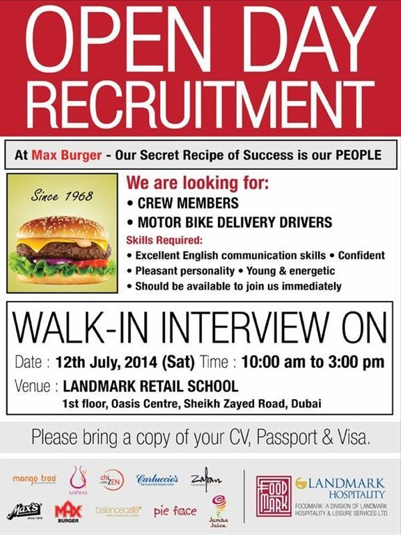 Max Burger Walk-in Interview – 12 July 2014