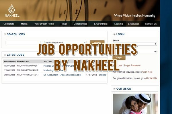 Nakheel Job Hiring: Finance Clerk, Senior Accountant and Marketing Executive