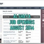 alshaya job opportunities august 2014