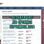 Alshaya UAE Job Opportunities September 2014