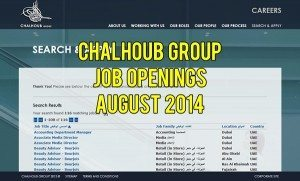 chalhoub group hiring august 2014