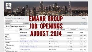 emaar job openings august 2014