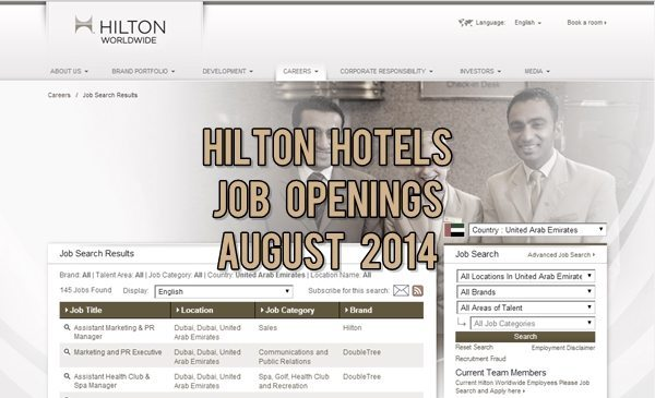 Hilton Hotels Job Opportunities August 2014