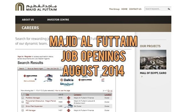 Majid Al Futtaim Job Opportunities August 2014
