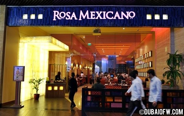 rosa mexicano restaurant dubai mall
