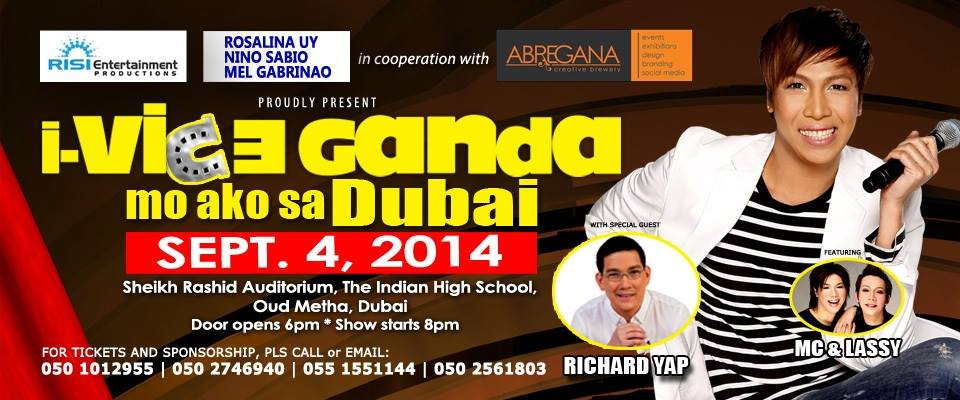 Vice Ganda Concert Tour in Dubai September 2014