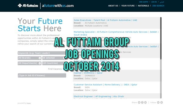 Al-Futtaim UAE Job Vacancies October 2014