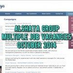 alshaya group jobs october 2014