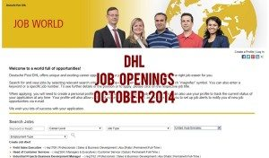 dhl job careers 2014