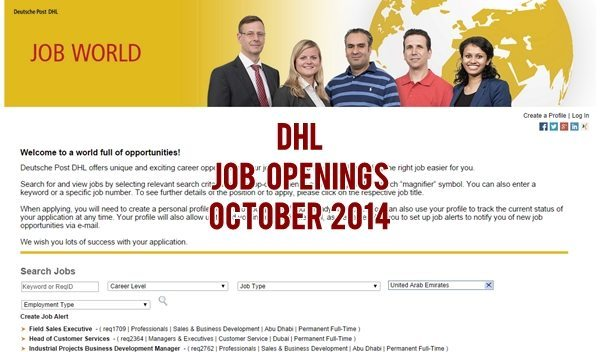 DHL Dubai Job Vacancies 2014