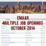 Emaar Job Openings October 2014