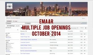 emaar jobs october 2014