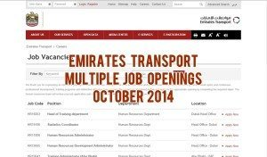 emirates transport careers uae