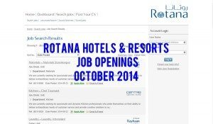 rotana hotels careers uae 2014