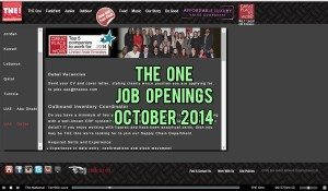 the one job careers 2014