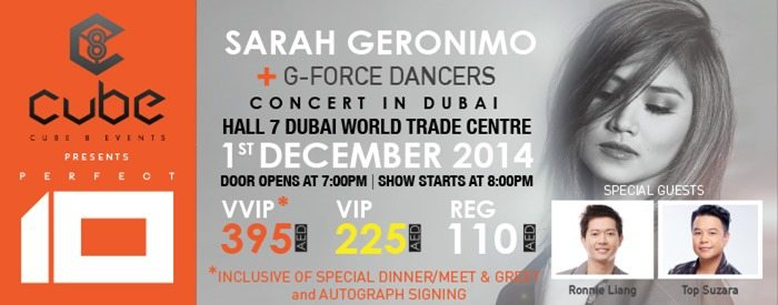 Sarah Geronimo Concert in Dubai December 2014