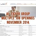 al tayer jobs november 2014