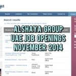 Alshaya UAE Job Opportunities November 2014