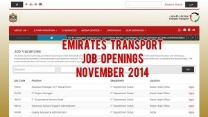 emirates transport jobs november 2014