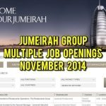 jumeirah group jobs nov 2014