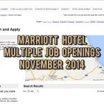 marriott hotel jobs nov 2014