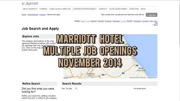 Marriott Hotel UAE Job Openings November 2014