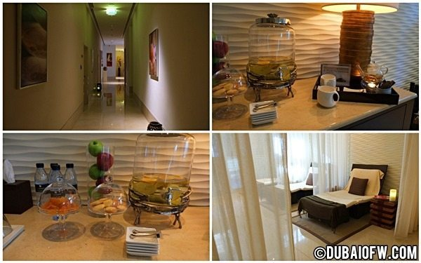 relaxation area the spa address dubai mall