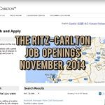 ritz carlton jobs november 2014