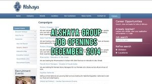 alshaya group jobs december 2014