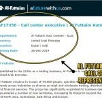 Call Center Reps Job Opportunity by Al Futtaim – DEC 2014