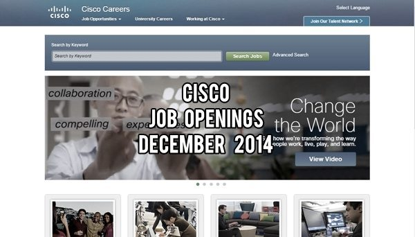 Cisco Systems UAE Job Openings December 2014